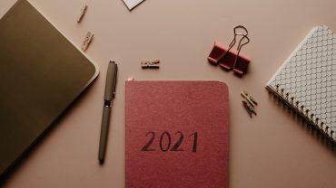 2021 journal, pen, office supplies